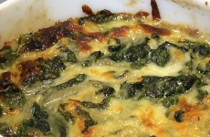 Cheesy Spinach with Carmelized Onions