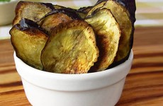 Rosemary & Garlic Eggplant Chips