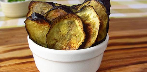 Rosemary & Garlic Eggplant Chips