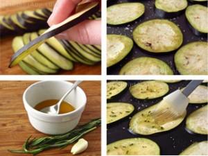 Eggplant Chip Snacks