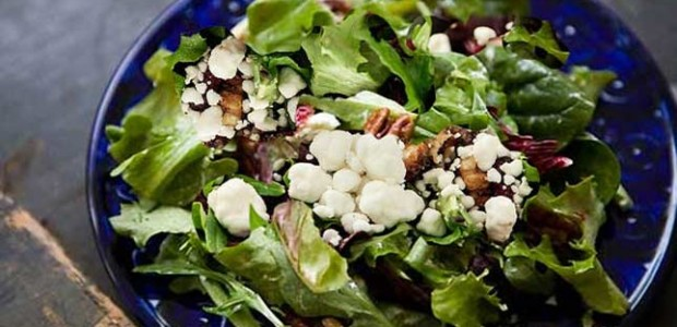 Raspberry Vinaigrette Goat Cheese Salad